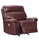 Signature Design Duvic, Power Recliner with Adjustable Headrest, Crimson 5620213