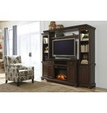 Signature Design Porter LG TV Stand w/Fireplace Option - Rustic Brown