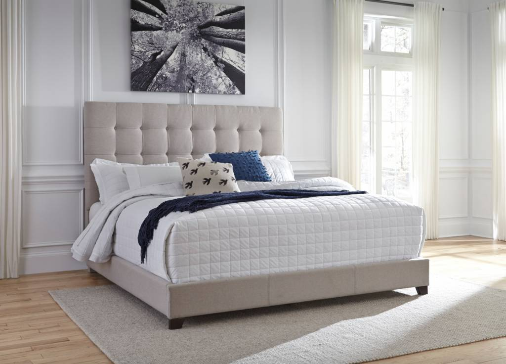 Signature Design CREAM B130-582 Dolante KING Upholstered Beds
