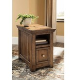 Signature Design Flynnter, Chairside End Table, Medium Brown T919-7