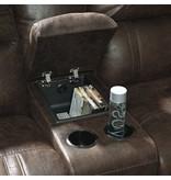Signature Design Luttrell, 6 piece Powered Reclining Sectional, Espresso 93101 19, 46, 77, 62, 57, 58