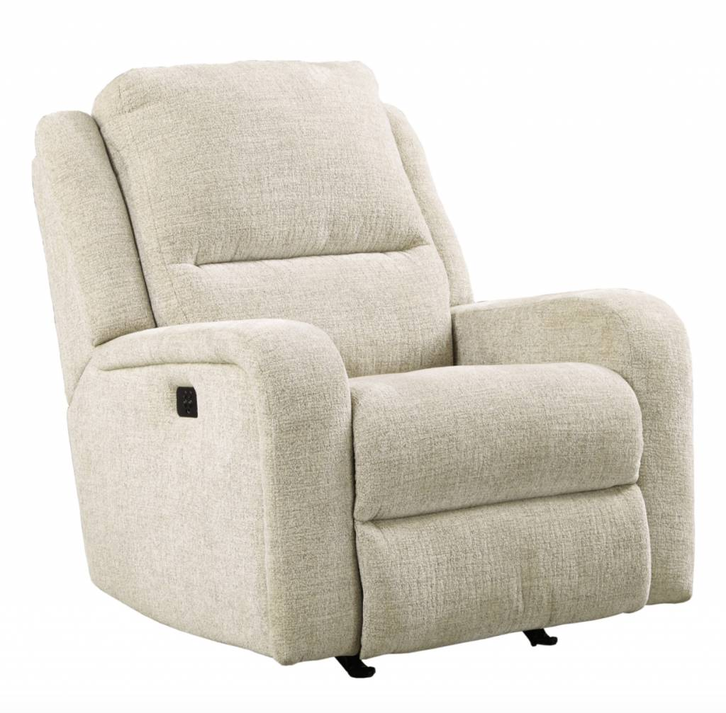 Signature Design Krismen, Power Rocker Recliner w/ Adjustable Headrest- Sand 7810313