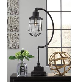 Signature Design Jae Metal Desk Lamp (1/CN) - Antique Black L734232