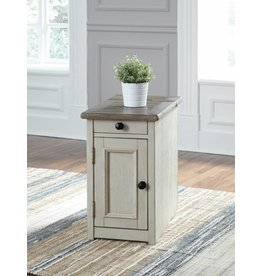 Signature Design Bolanburg End Table- white washed T637-7