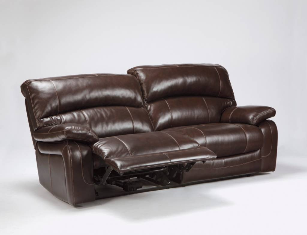Damacio 2 Seat Reclining Power Sofa - Dark Brown