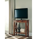 Signature Design Abbonto, Console Sofa Table, Warm Brown, T800-114