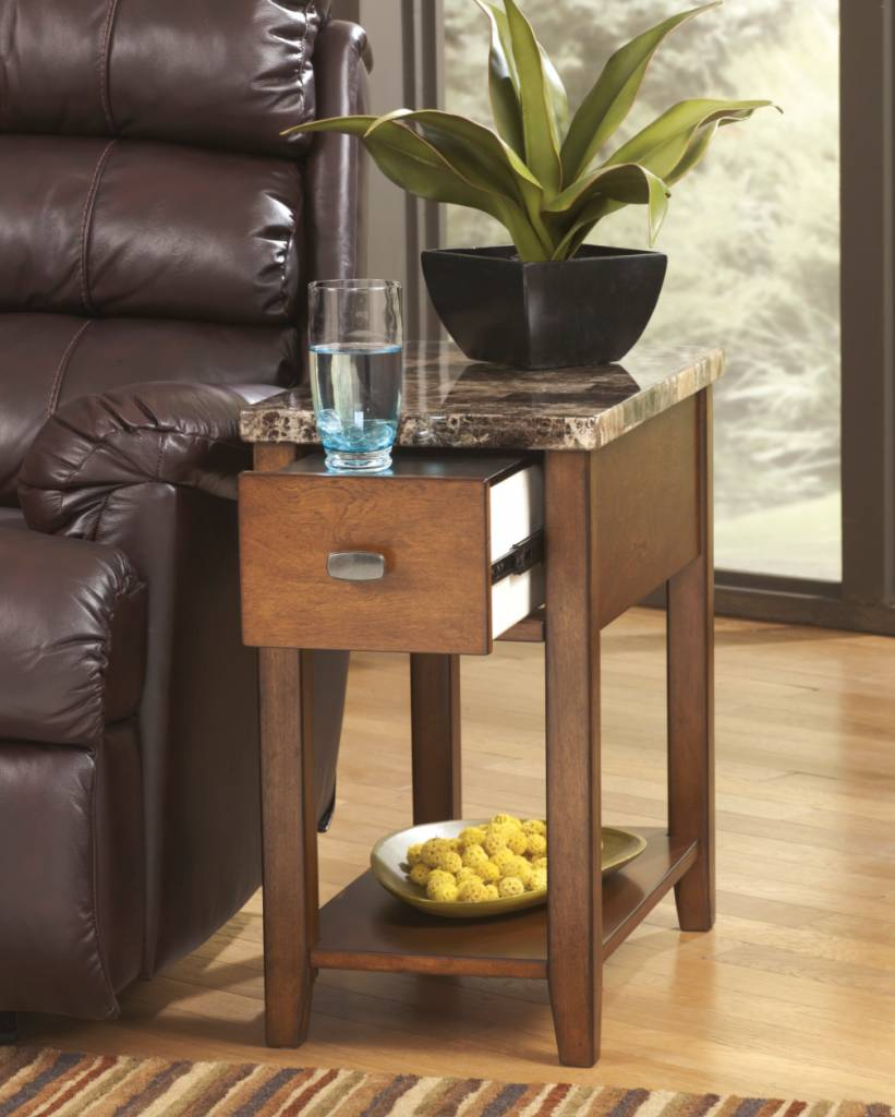 Signature Design Breegin, Chair Side End Table, Brown, T007-158