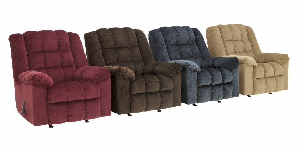 Signature Design Ludden, Rocker Recliner, Cocoa, 8110425