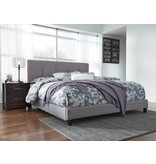 Signature Design Contemporary Upholstered Beds King Upholstered Bed - Gray B130-782