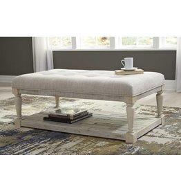 Signature Design Shawnalore White Wash Ottoman Coffee Table- T782-21