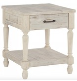 Signature Design Shawnalore- White Wash  Rectangular End Table- T782-3