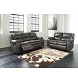 Signature Design Long Knight, Reclining Powered Sofa, Gray 8890687