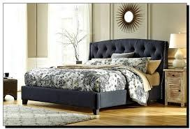 Signature Design Kasidon Dark Gray Queen Upholstered Bed- B600-554/596/557