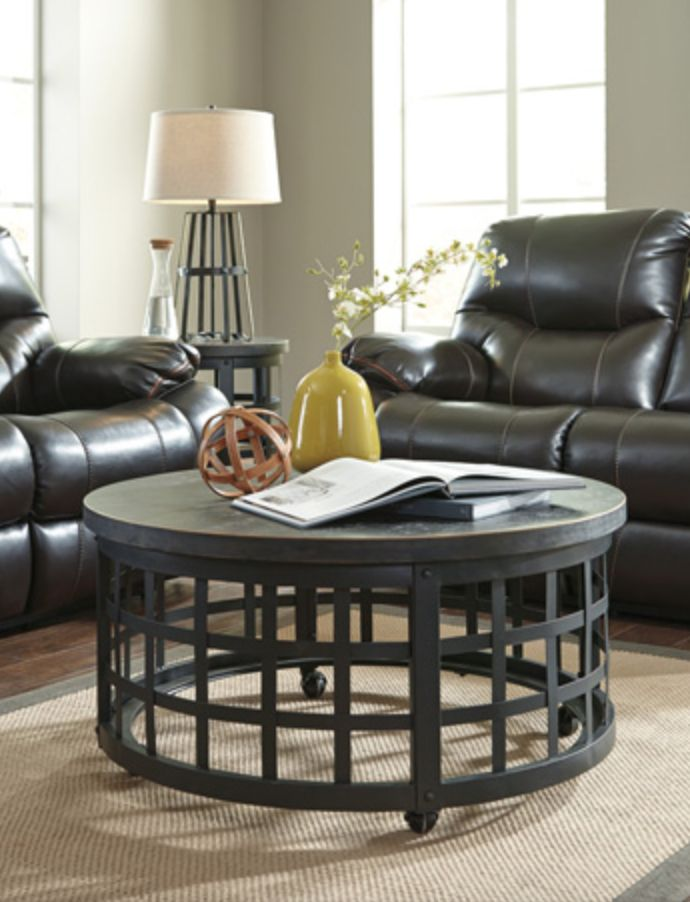 Signature Design Discontinued ROUND COCKTAIL TABLE- Marimon Black T746-8