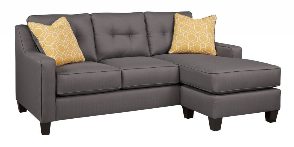 Signature Design Aldie- Nuvella, Gray Reversible SOFA CHAISE 6870218