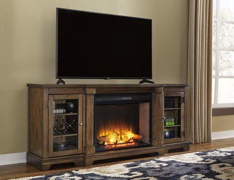 Signature Design Extra Large TV Stand- Flynnter Medium Brown