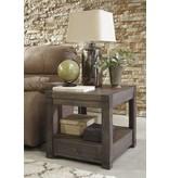 Signature Design RECTANGULAR END TABLE- Burladen, Grayish Brown T846-3