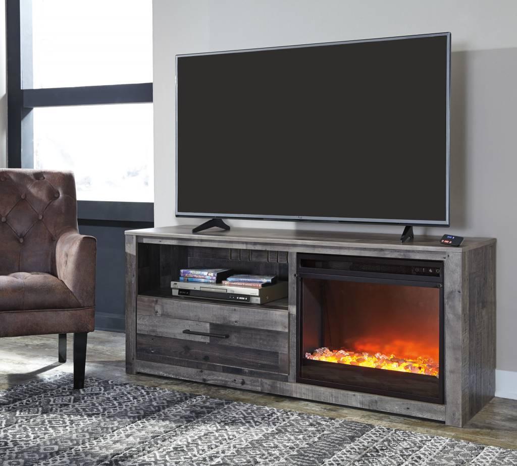 Benchcraft Large TV Stand w/ Fireplace Option- Derekson W200-68