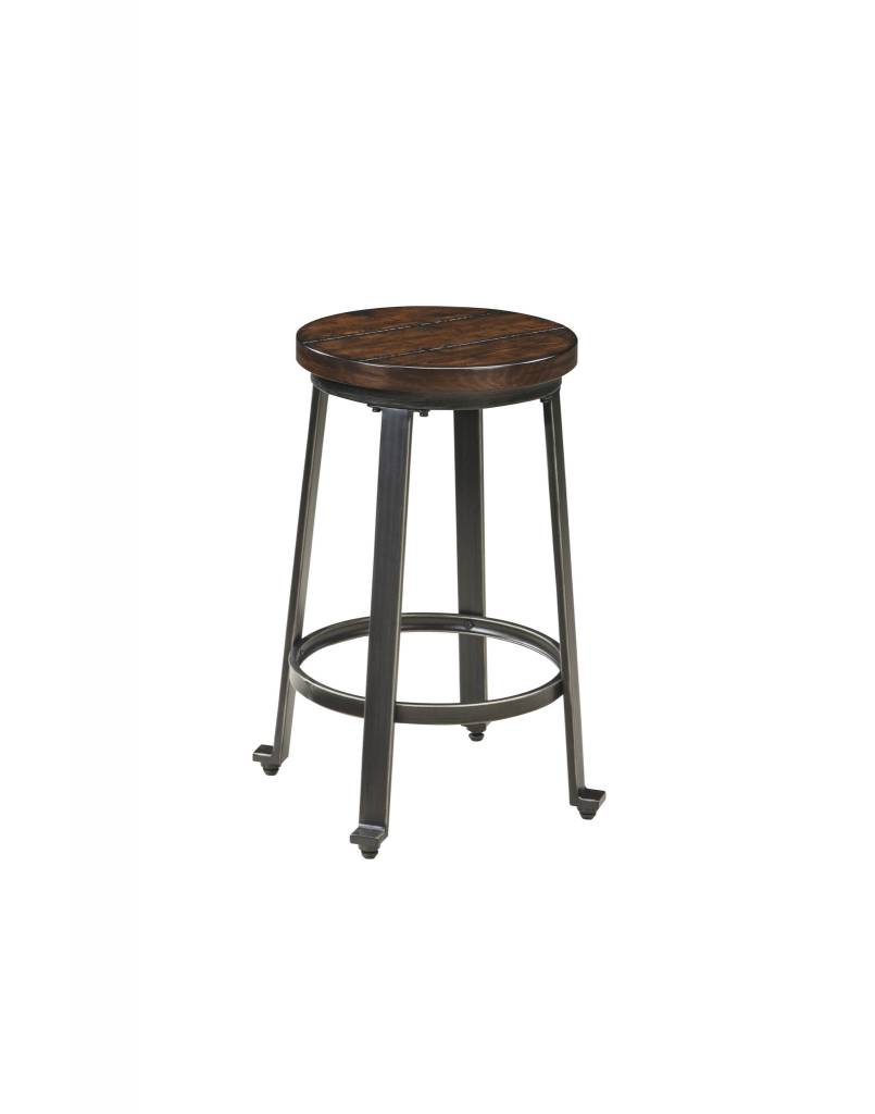 Signature Design Challiman- Rustic Brown STOOL- Single