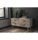 "Benchcraft Camp Ridge- SOFA TABLE- ""Black"" A4000007"