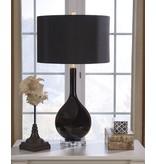 Signature Design Glass Table Lamp, Andres- Black L430504