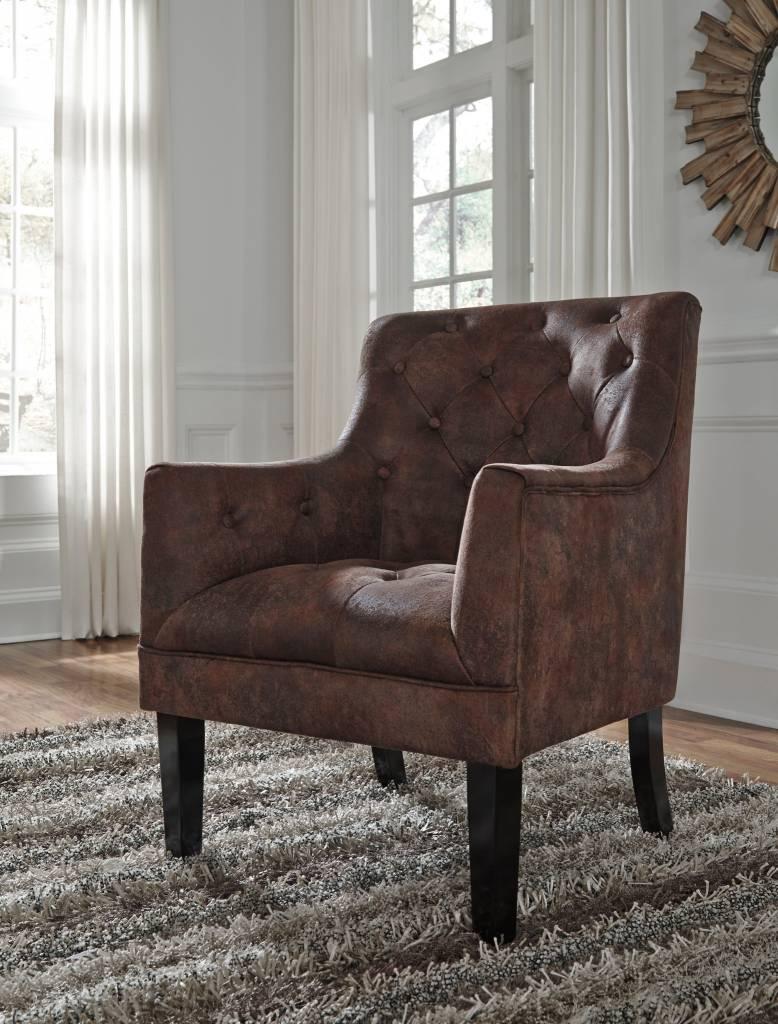 Signature Design Drakelle Accent Chair- Mahogany, A3000051
