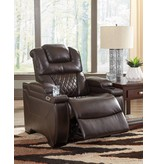 Signature Design Warnerton Power Recliner w/ Adjustable Headrest- Chocolate 7540713