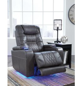 Signature Design Composer- Power Recliner w/ Adjustable Headrest- Gray 2150613