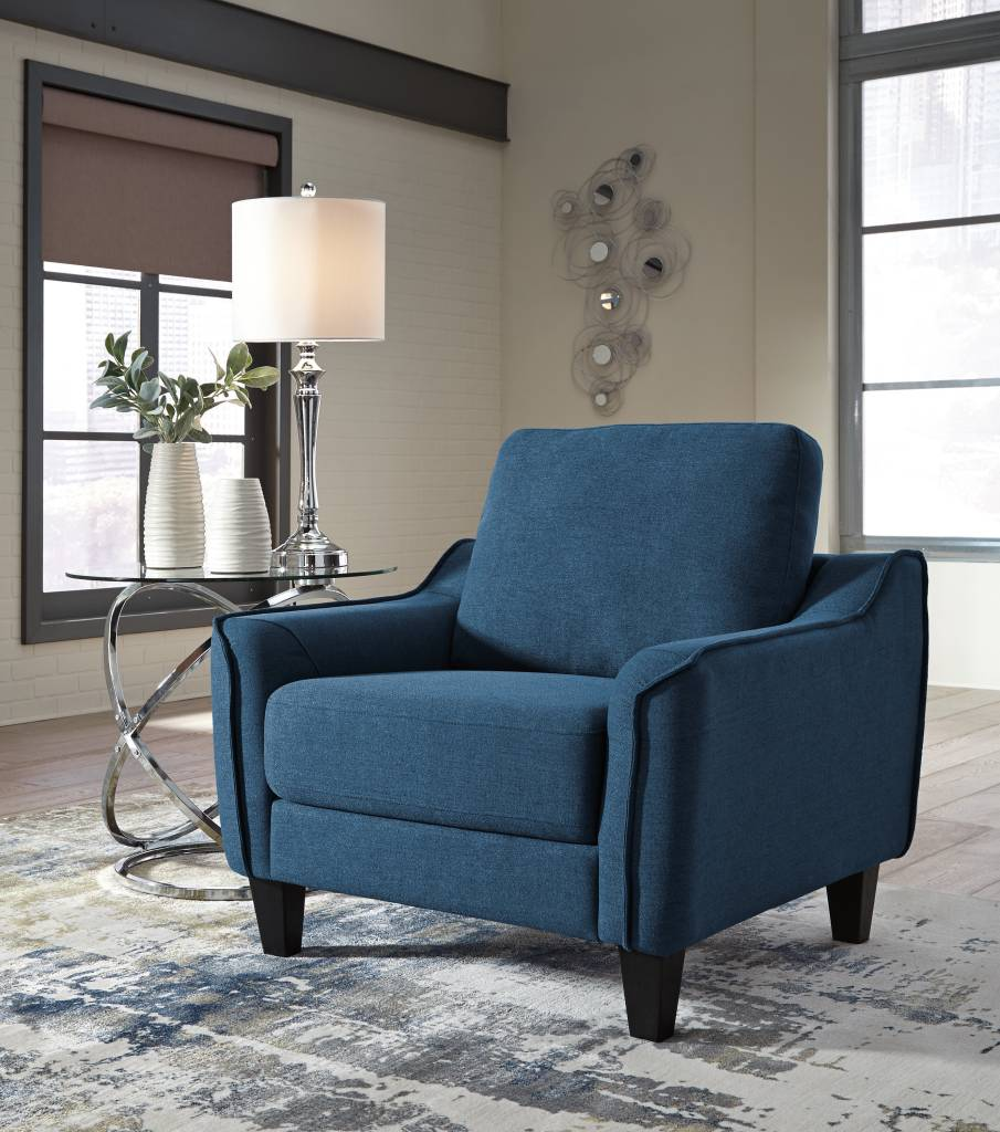 Signature Design Jarreau Contemporary Accent Chair- Blue 1150320