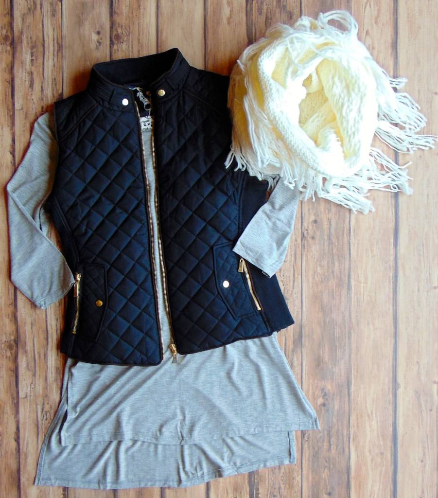 The More That I Know You Quilted Vest