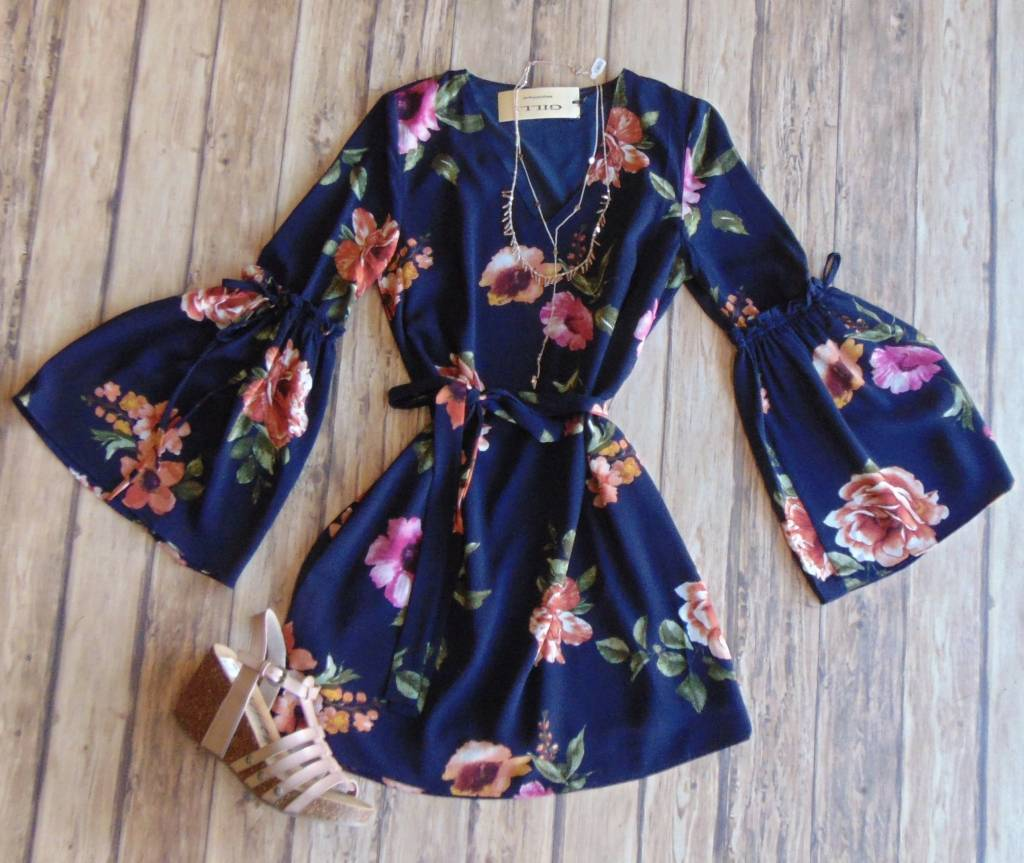 Forgive My Flared Floral Frock Dress