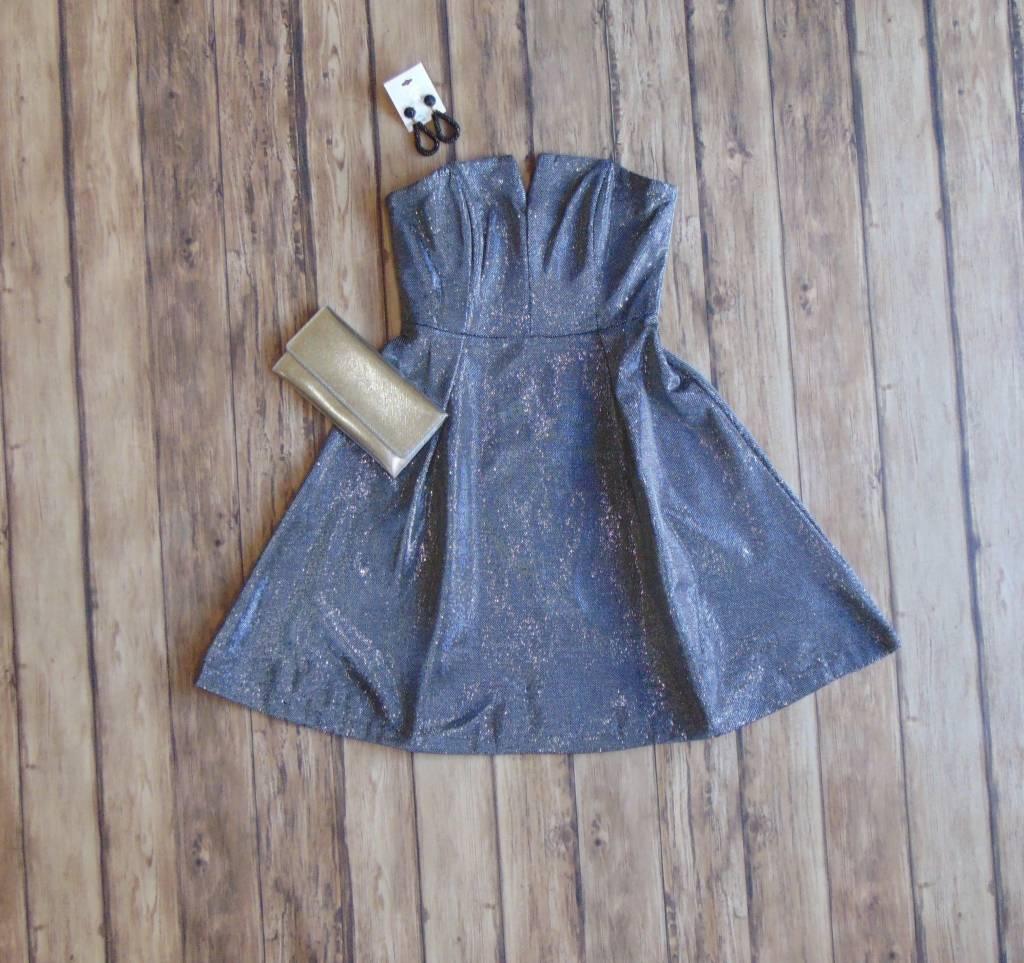 Silver Bells Strapless Dress