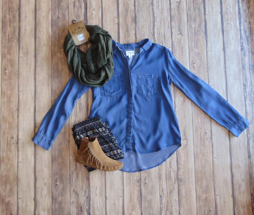The Time is Right Denim Shirt