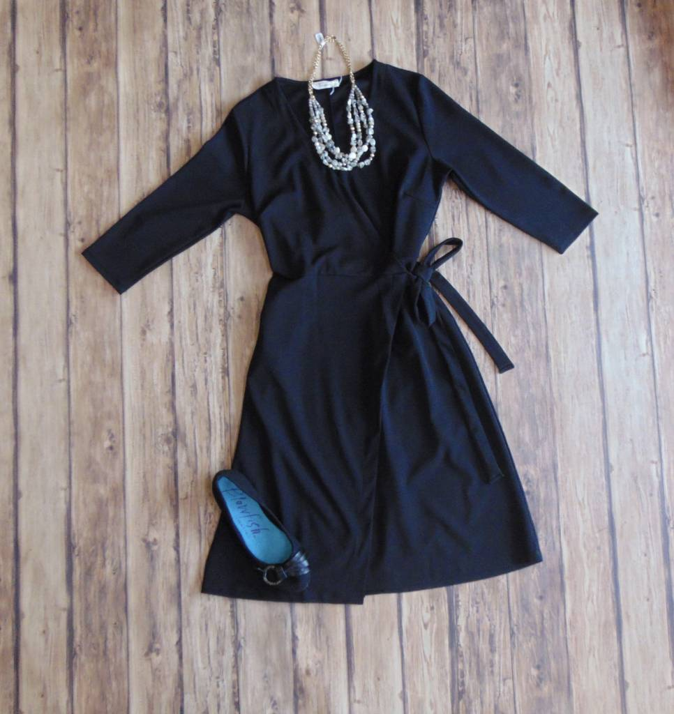 Business as Usual Wrap Dress