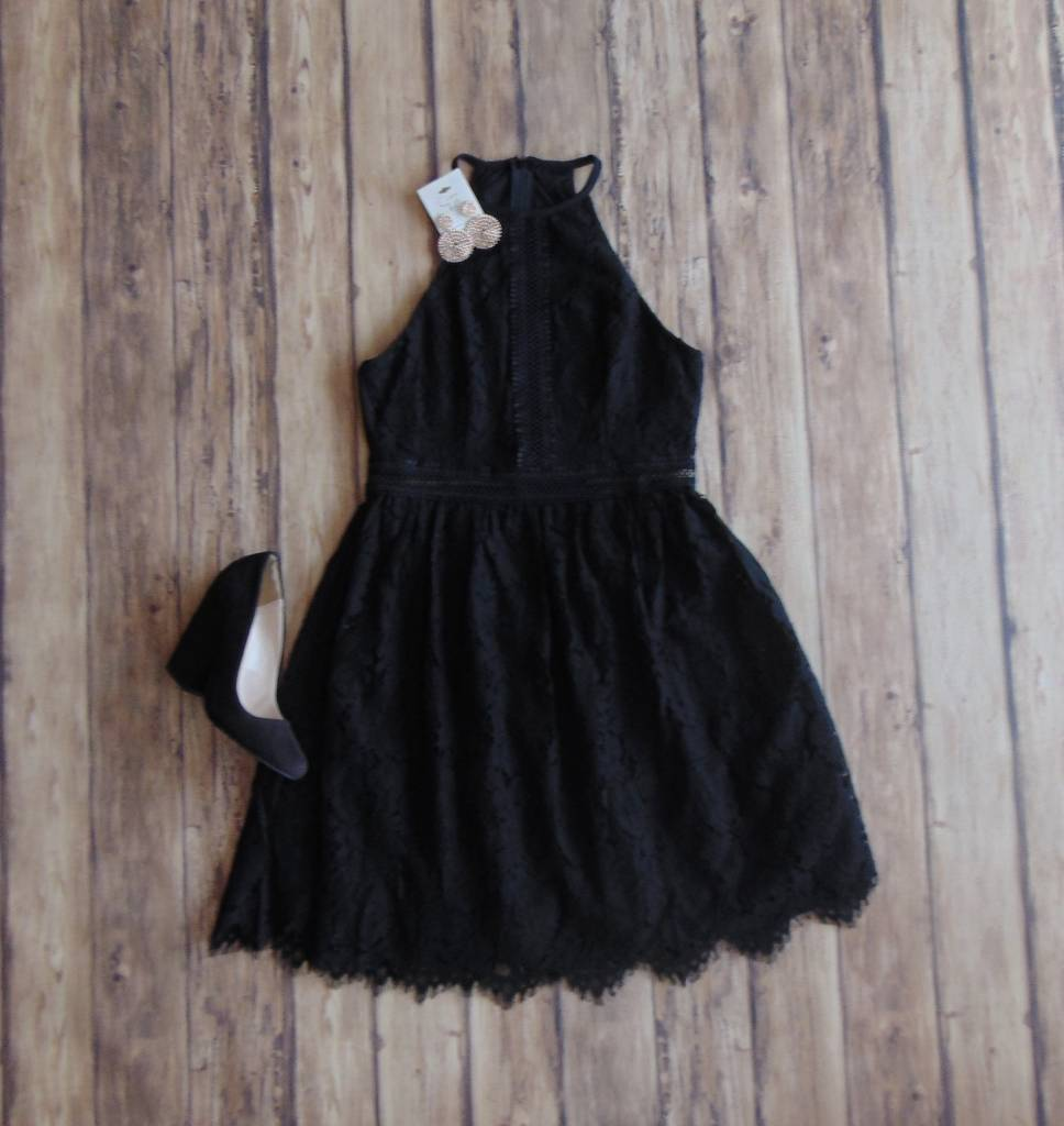 Cheers to Midnight Lace Dress