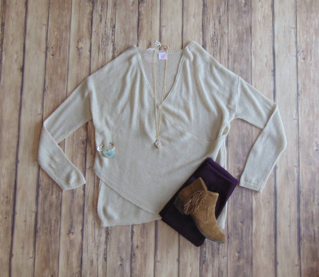 Delicate Matters Wrap Sweater