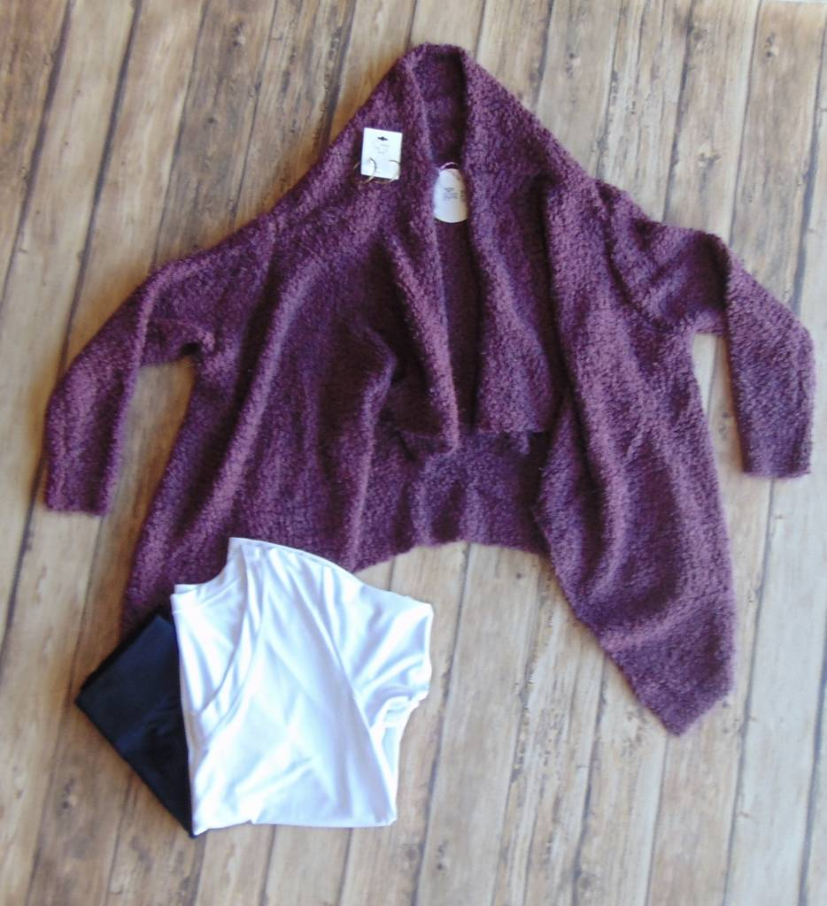 Can't Go Wrong Fuzzy Cardigan