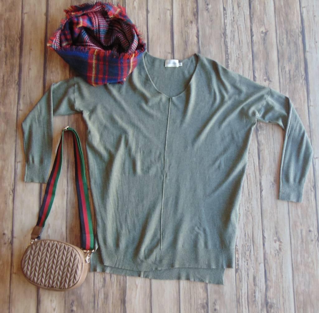 Rainy Days V-Neck Sweater