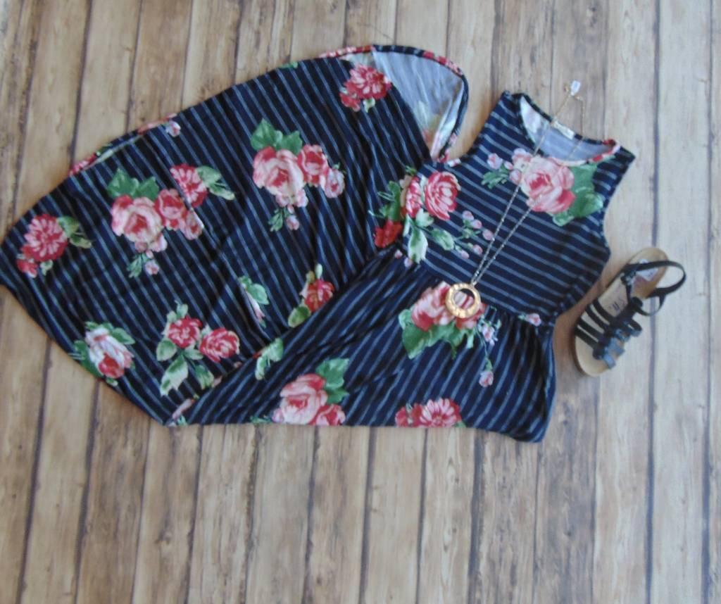 Roses, Stripes & Everything Nice Maxi