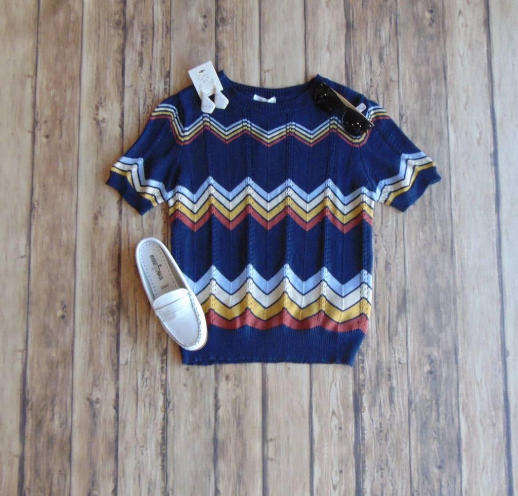 Chevron Chic Knit Top