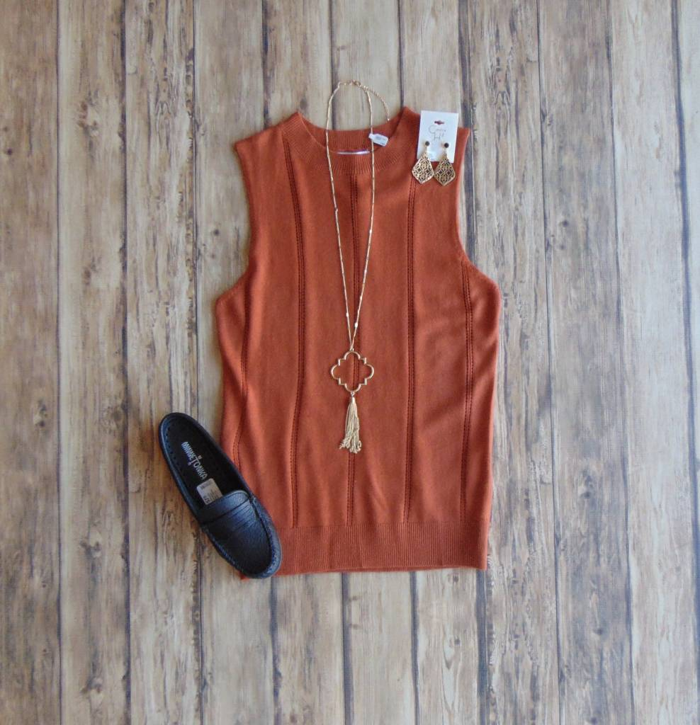 Sweet As Can Be Sleeveless Knit Top