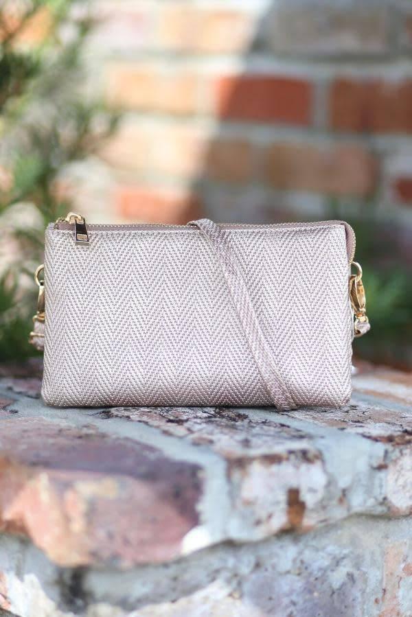 Liz Woven Crossbody Bag