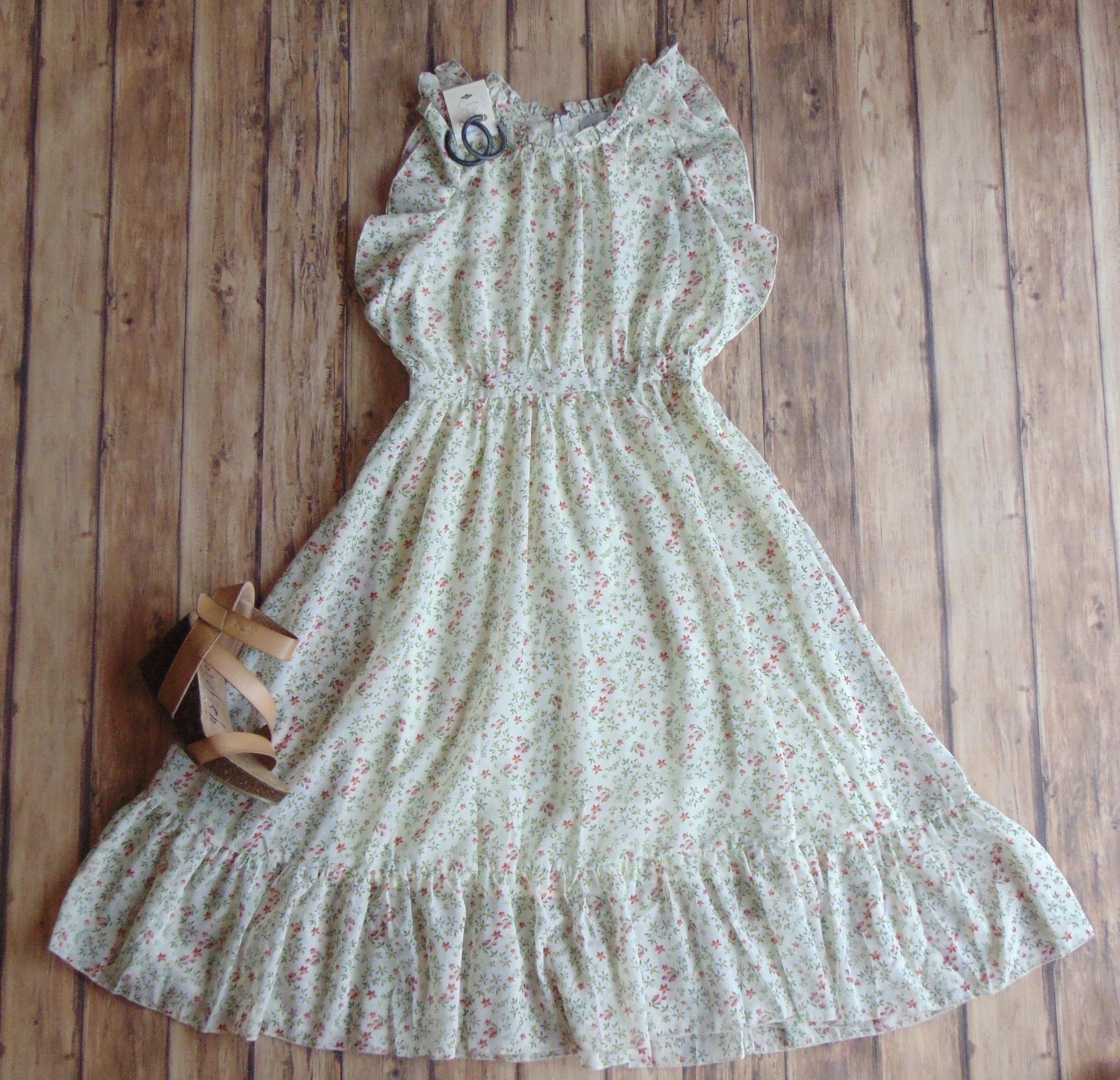 Spring Floral Fever Midi Dress