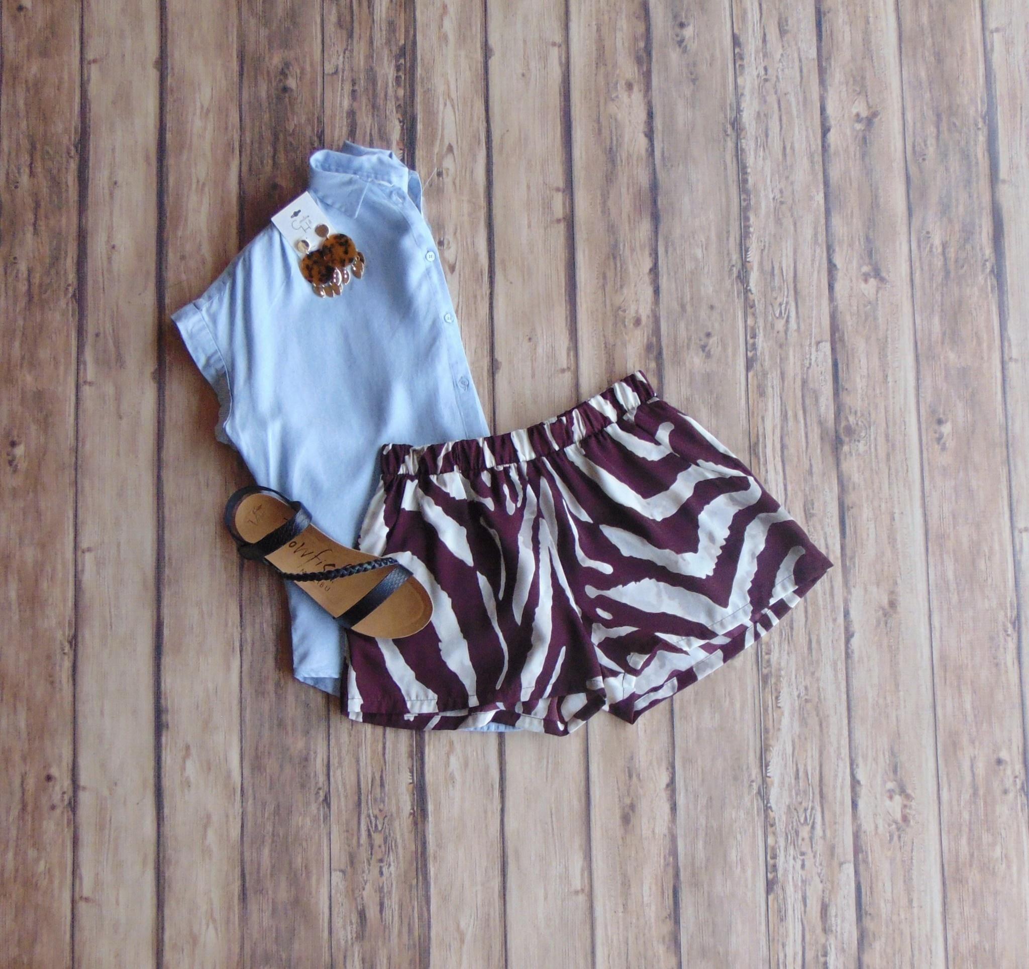 Go Wild Printed Shorts