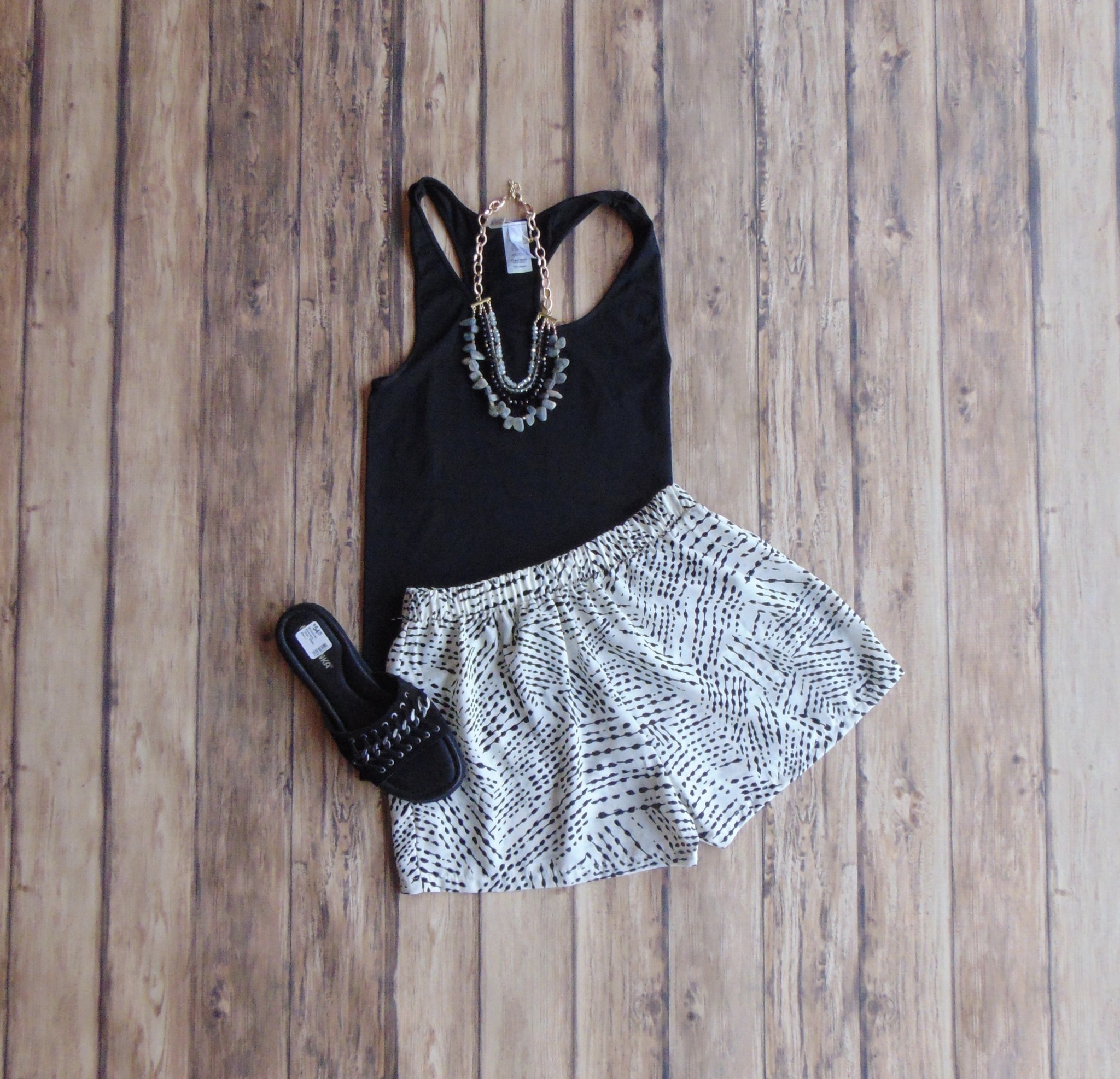 On the Move Printed Shorts