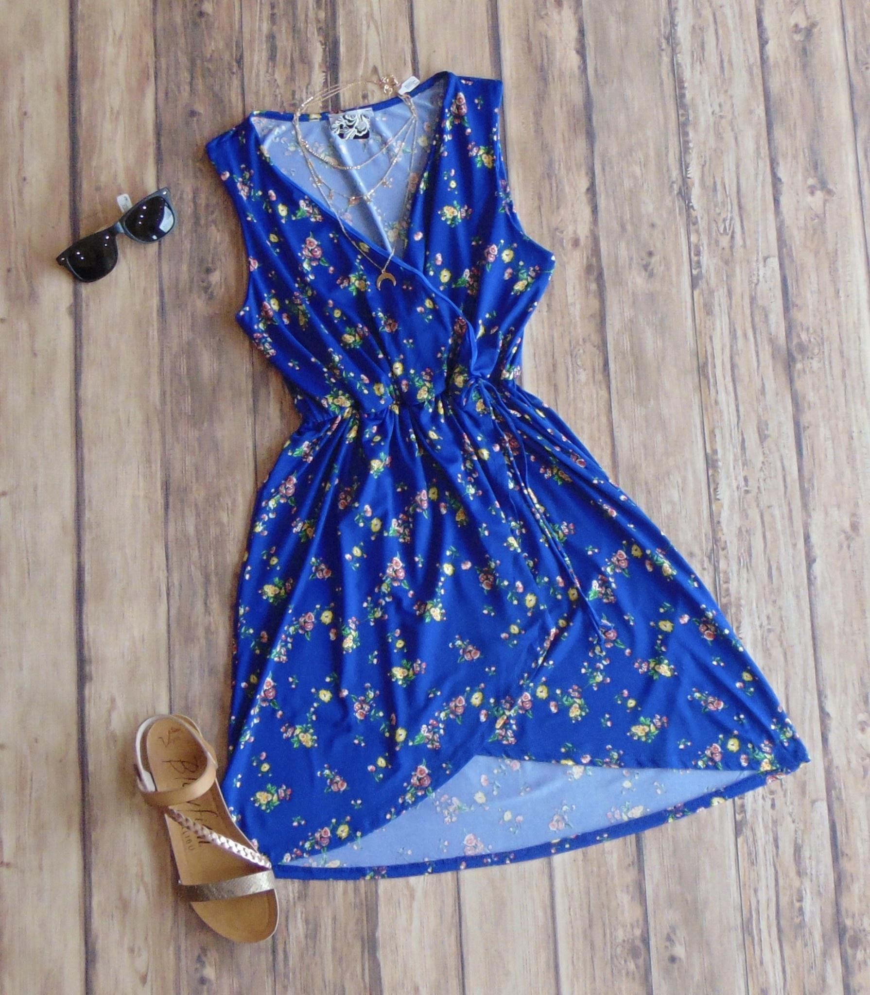 Keep It Sharp Surplice Dress