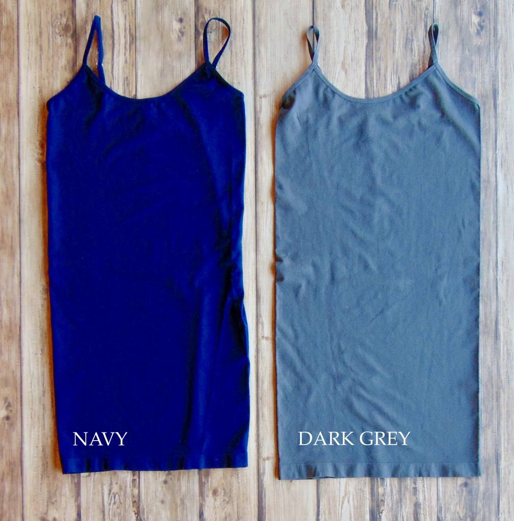 Extra-Long Seamless Tank (Adjustable Strap)