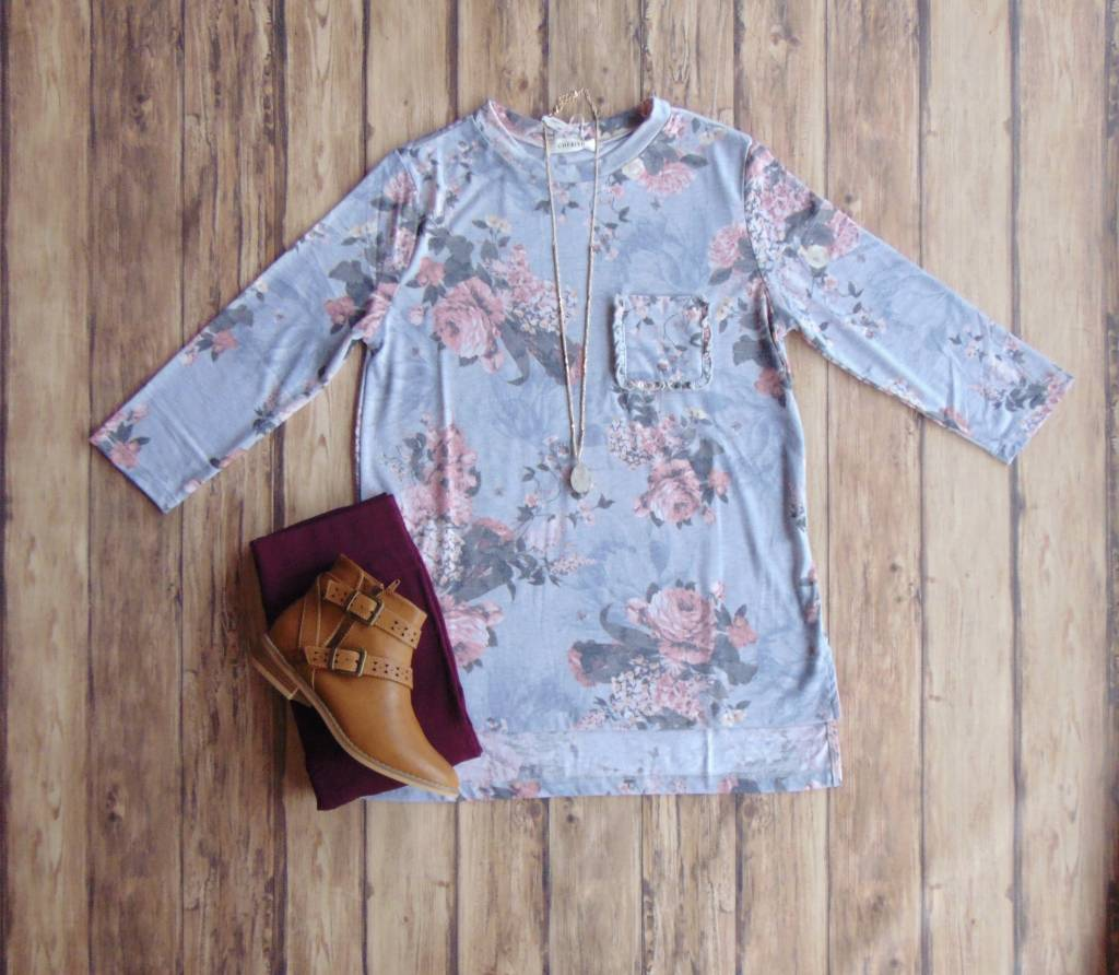 All For Love Floral Pocket Tee