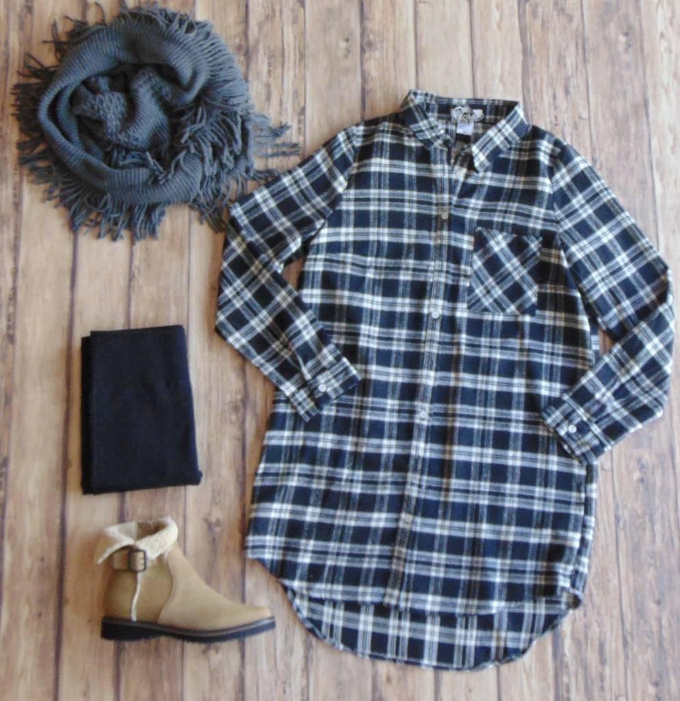 Invite All Your Friends Flannel Tunic