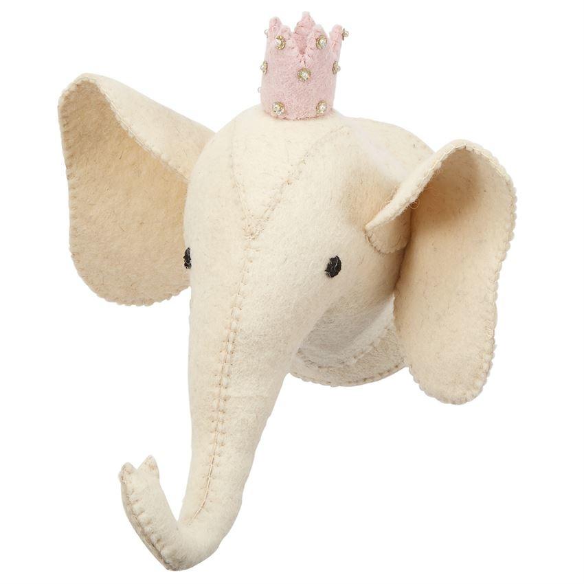IVORY MINI ELEPHANT MOUNT